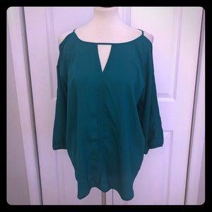 NWT Silk Cold shoulder blouse